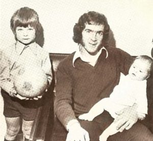 Brian Evans with sons Richard and Christian