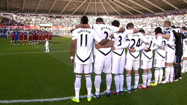 Gary Speed Tribute - Swans v Aston Villa