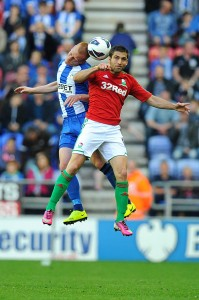 Itay Shechter against Wigan Athletic