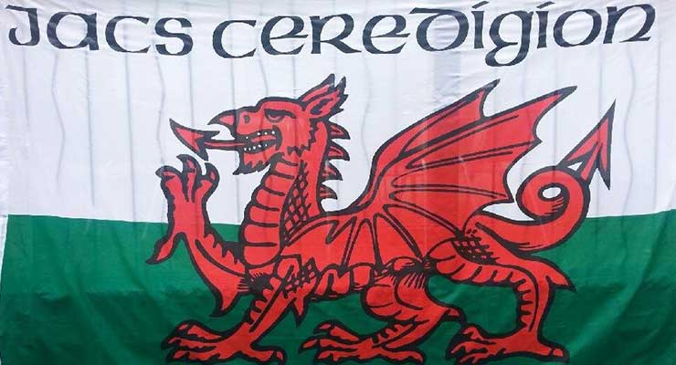 Ceredigion Jacks Flag