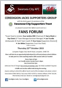 Ceredigion Jacks Launch Poster