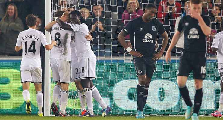 Swansea 3 Everton 0