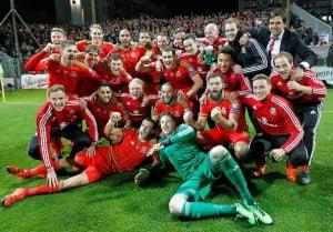 Wales celebrate in Bosnia