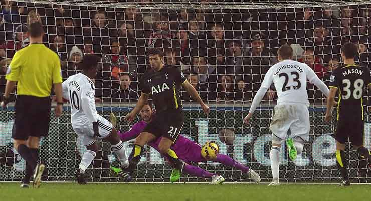 Swansea City 1 Spurs 2 - December 2014