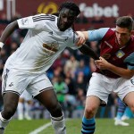 Gomis against Aston Villa