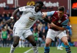 Gomis against Aston Villa