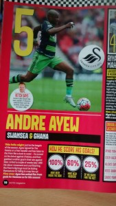 Andre Ayew in MOTD Magazine