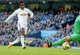 Bony scores against Manchester City