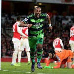 Ashley Williams scores against Arsenal 2016
