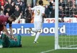 Luke Moore scores against Newcastle United