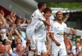 Ki celebrates scoring at West Ham