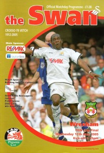 Swans v Wrexham programme last game at Vetch Field