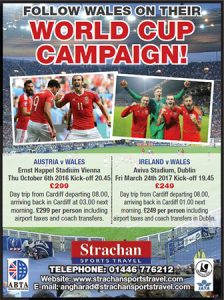 Follow Wales on their World Cup Campaign