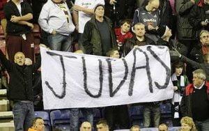 Swansea fans at Wigan