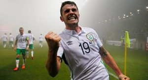 Robbie Brady scores for Ireland