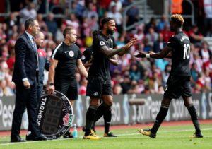 Defensive display v Southampton