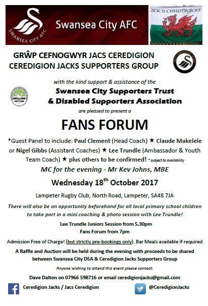 Ceredigion Fans Forum 2018