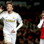 Michu scores v Arsenal
