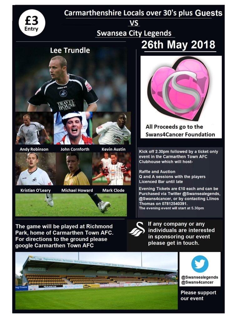 Carmarthenshire Select v Swansea City Legends 2018