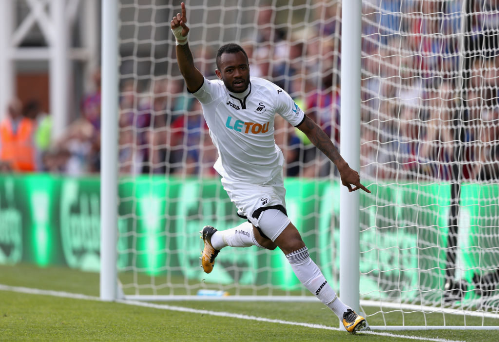 Jordan Ayew scores at Crystal Palace