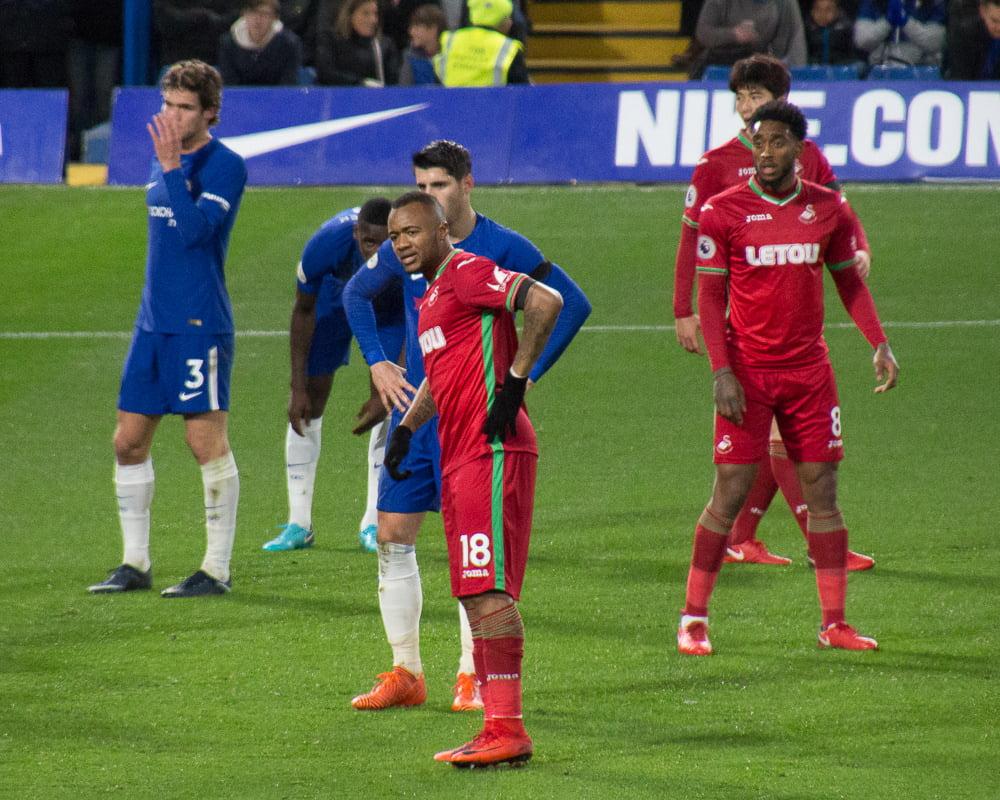Jordan Ayew v Chelsea