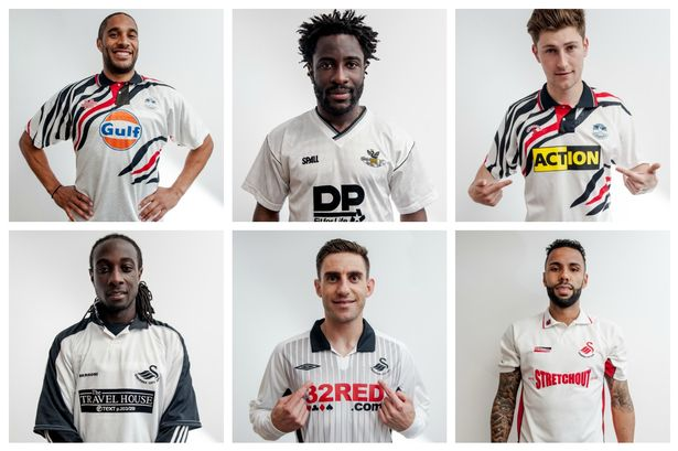 Old Swansea City kits