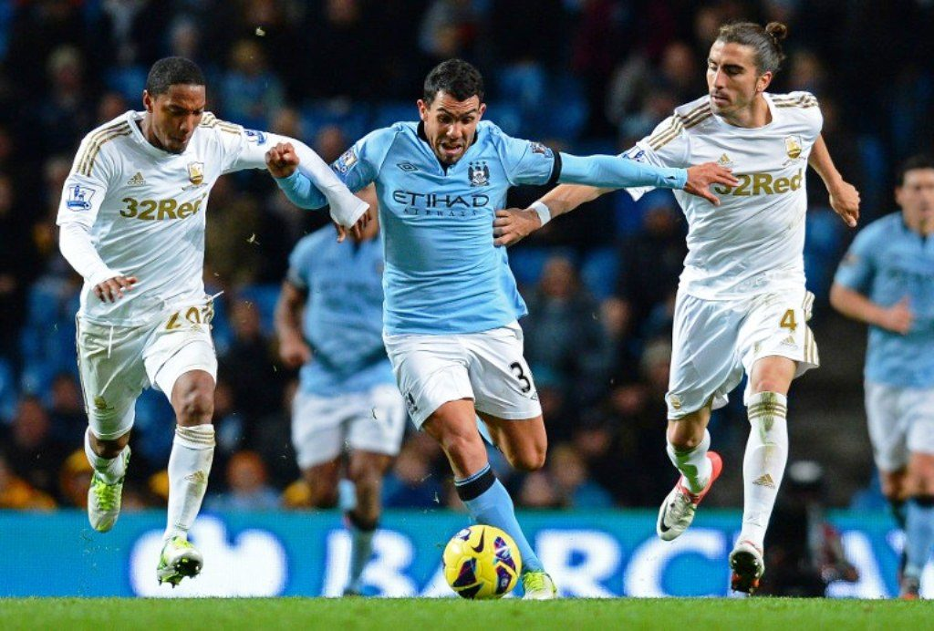 Manchester City vs Swansea City in 2012