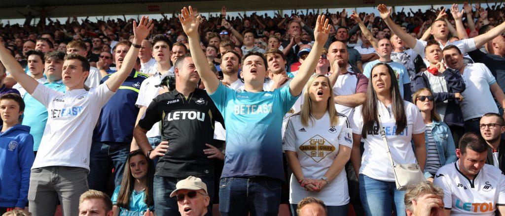 Swans Fans at Southampton