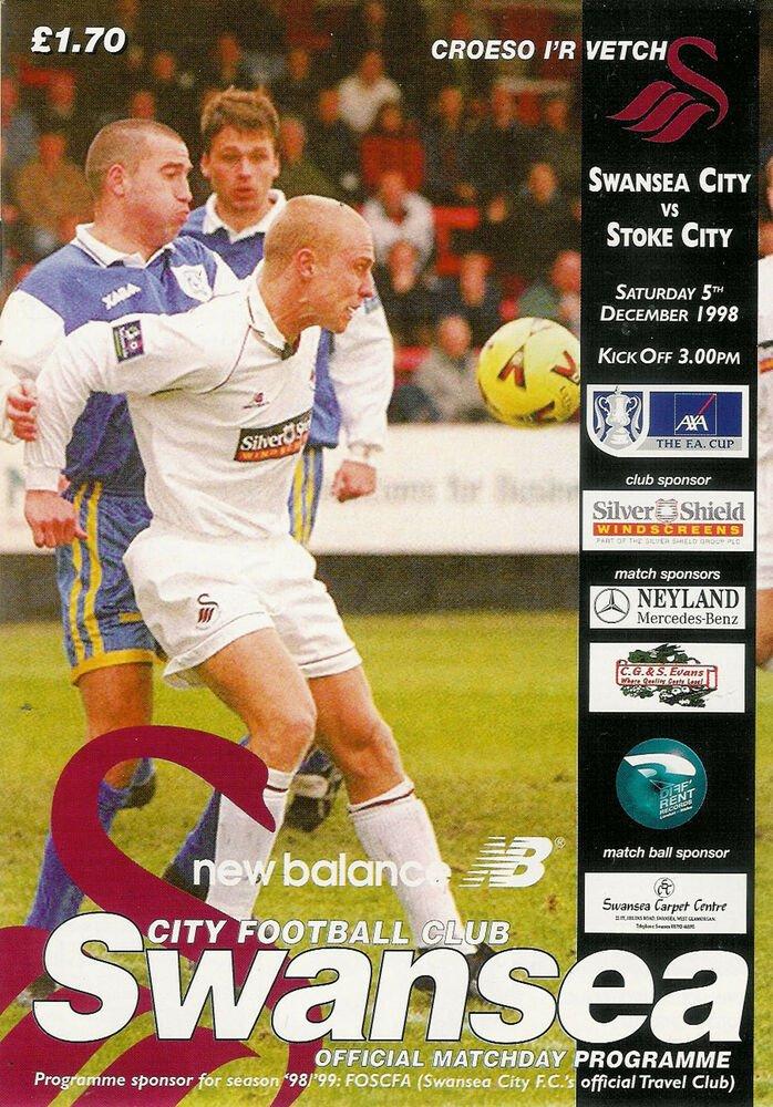 Swans v Stoke City programme 1998