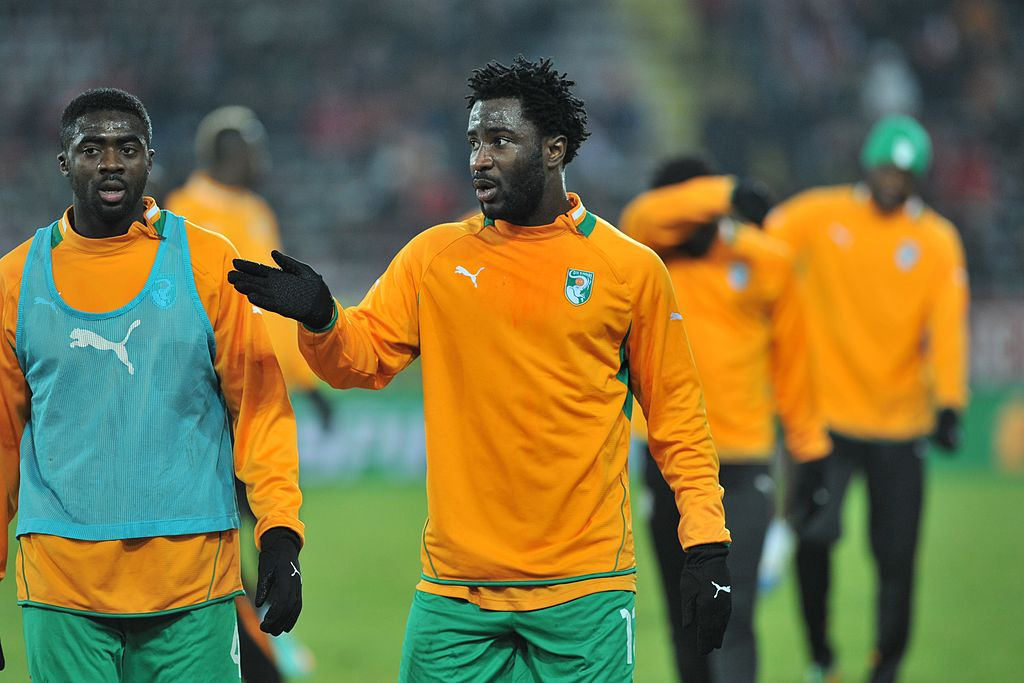 Wilfried Bony with the Ivory Coast