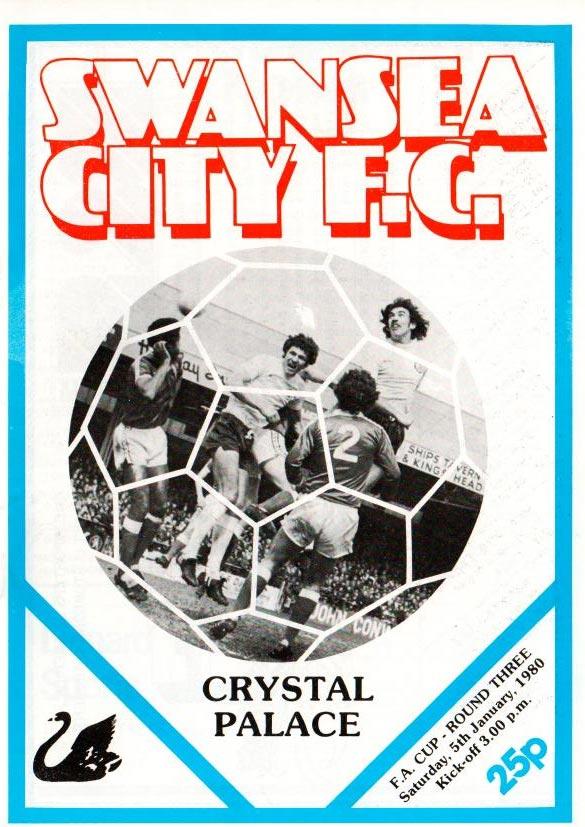 Swans v Crystal Palace Programme 1980