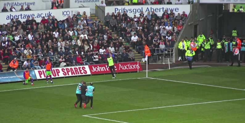 Pitch Invader at the Liberty Stadium
