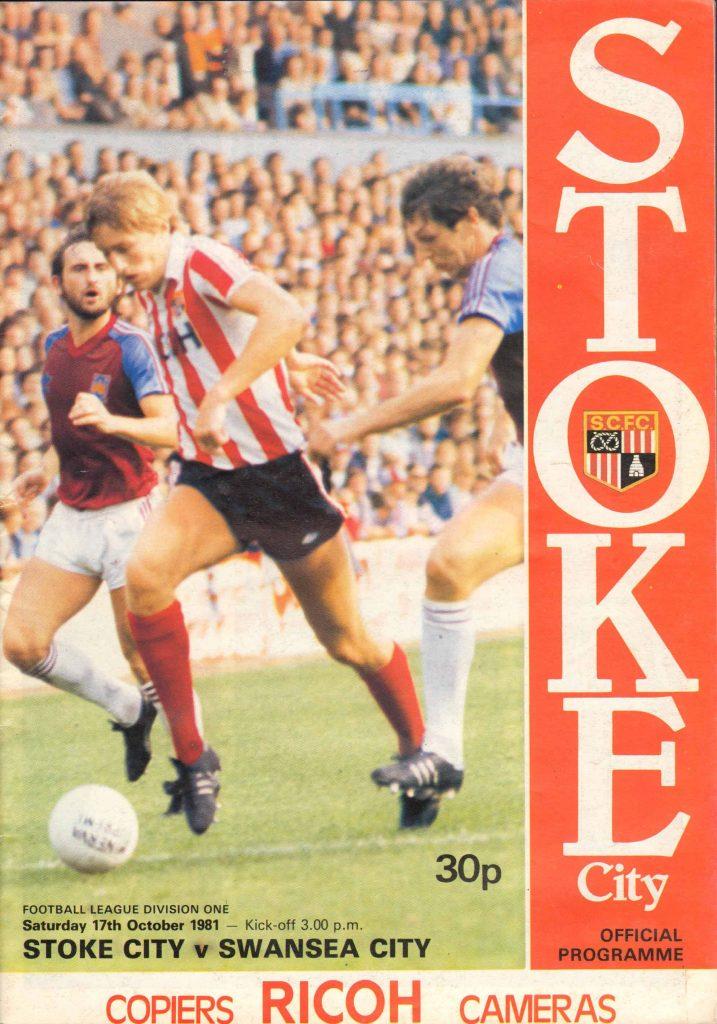 Stoke City v Swansea City Programme October 1981
