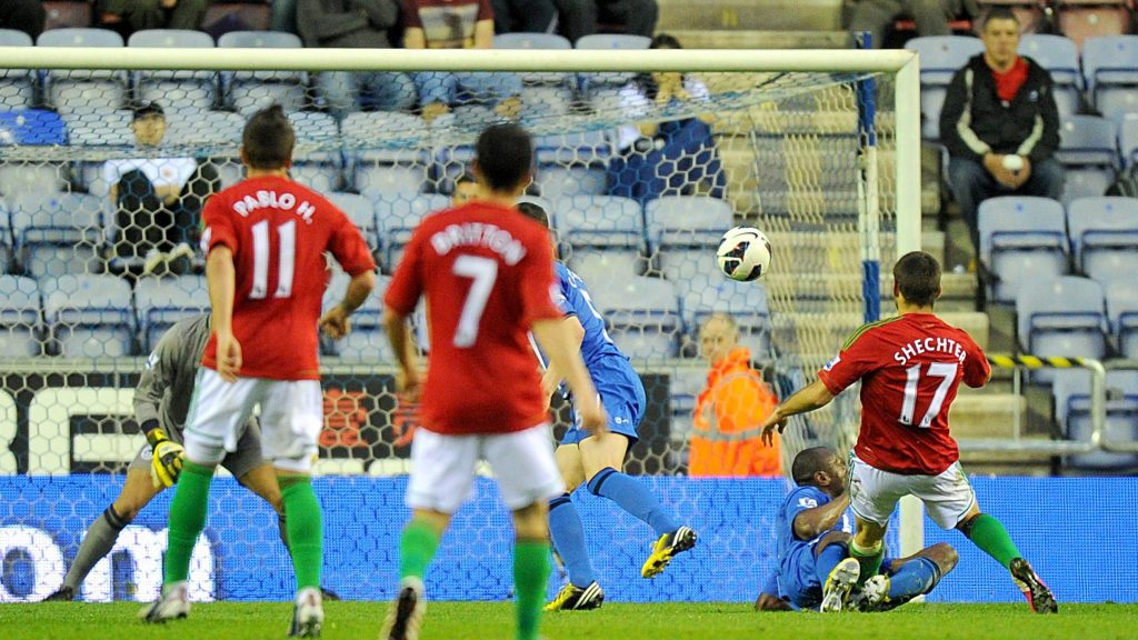 Itay Shechter goal Wigan