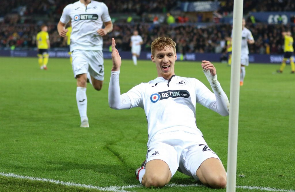 Jay Fulton - Swansea City v Blackburn Rovers