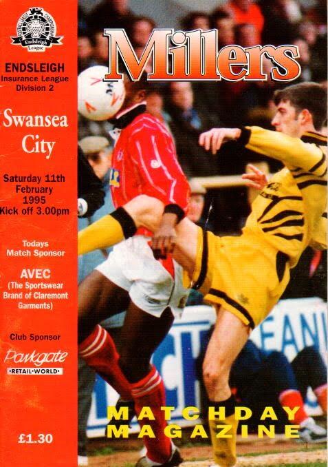 Rotherham United v Swansea City Programme 1995