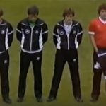 Toshack wears Liverpool shirt