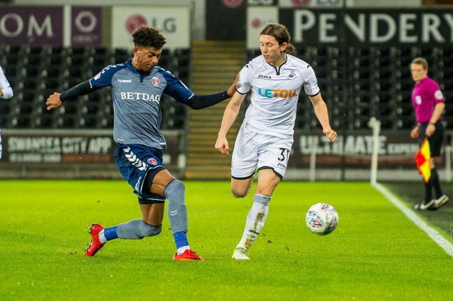 George Byers for Swansea v Charlton