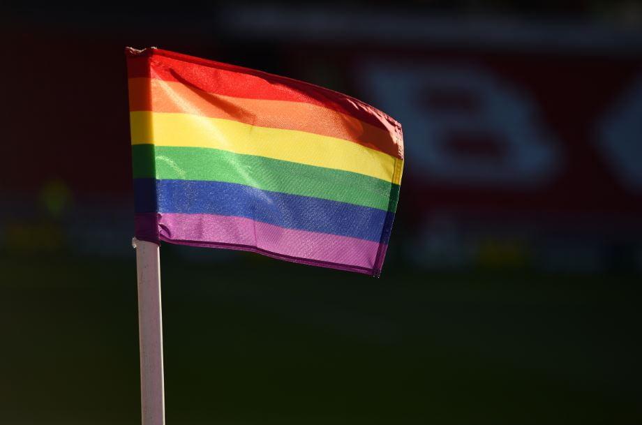 Rainbow corner flag