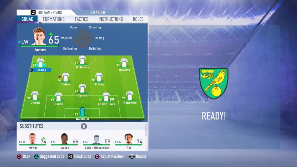 Swansea City v Norwich City FIFA 19