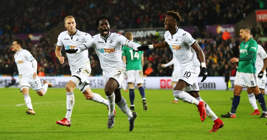 Bony scores a late Swansea City winner against West Brom