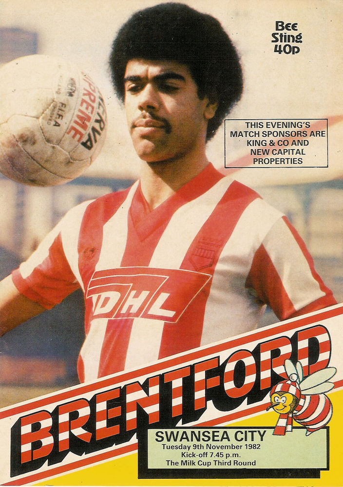 Brentford v Swansea City programme 1982