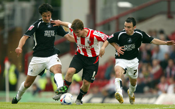 Rory Fallon and Leon Britton