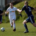 Stacey John-Davis in action against Rhyl