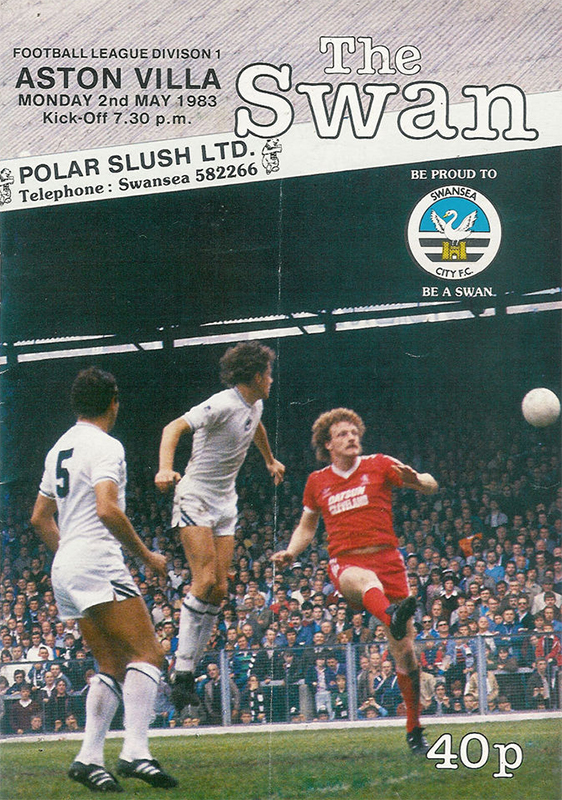 Swans v Aston Villa programme May 1983