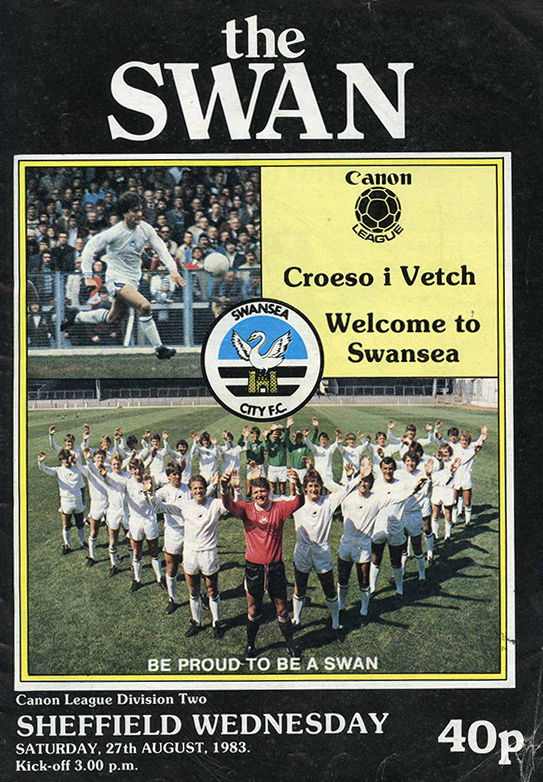 Swans v Owls Match Programme August 1983