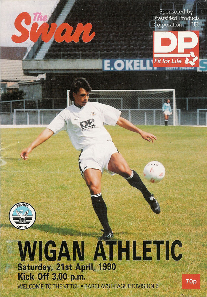 Swans v Wigan Athletic programme 1990
