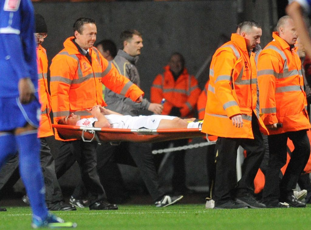 Ferrie Bodde stretchered off v Birmingham City