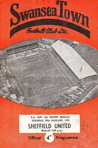 Swansea Town v Sheffield United programme 1964