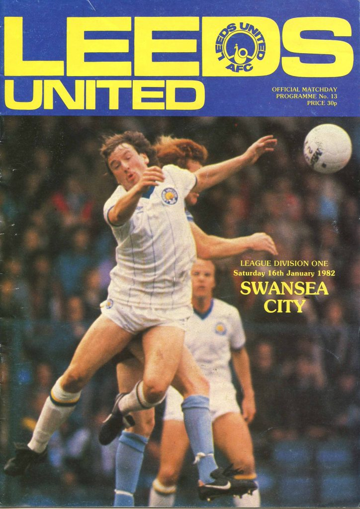 Leeds United v Swansea City Programme January 1982